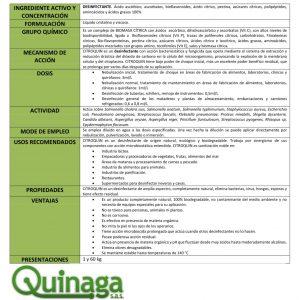 Desinfectante Biodegradable Para Ambientes Y Superficies | Citroquin 1 Kg - My Farm Delivery Colombia