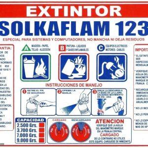 señalización extintor solkaflam