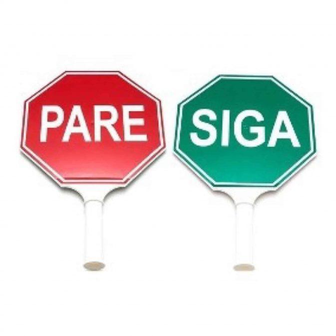 Paleta PARE y SIGA reflectante 30cm - My Farm Delivery Colombia