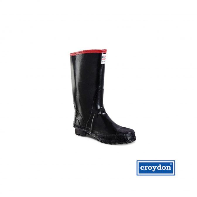 Bota caucho negra con puntera Croydon - My Farm Delivery Colombia