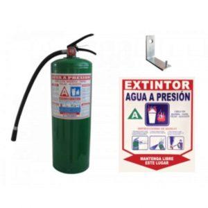Extintor agua a presión con soporte y señal. - My Farm Delivery Colombia