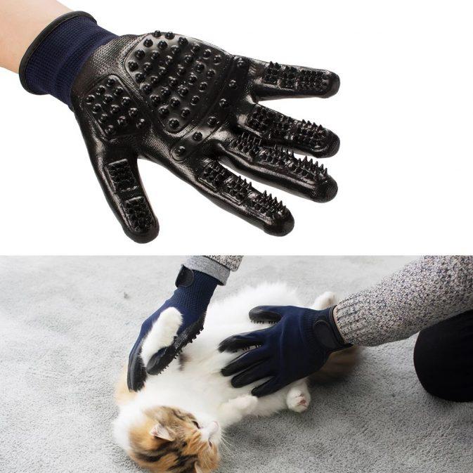 guantes para mascotas