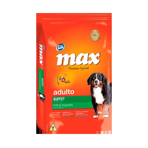 Max Premium Especial Adulto Buffet Pollo Vegetales