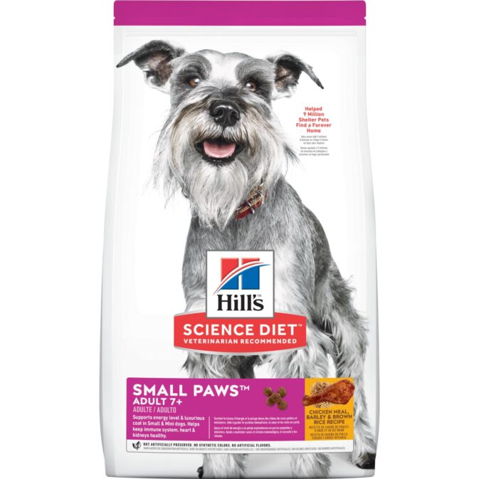 sd canine adult 7 plus small breed dry