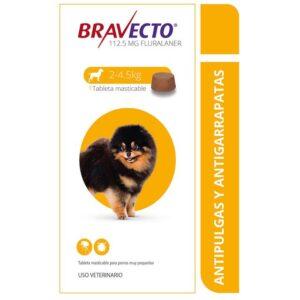 Antipulgas Bravecto de 2 a 4.5 kg para perro.